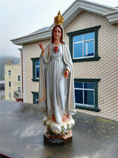 Catholic Holy Our Lady Of Rose Fatima Virgin Mary Madonna Statue Figurine 21""