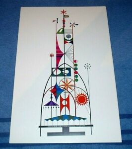 WED IMAGINEERING WORLDS FAIR DISNEY SMALL WORLD TOWER CONCEPT ART DESIGN PRINT