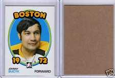 JOHNNY BUCYK 09/10 ITG 1972 *BLANK BACK* Rare SP #2 Insert Card Boston Bruins