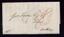 Sussex WORTHING 1824 COVER..8d + 8d ? LARGE CIRCLE PAID
