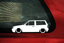 2x LOW VW Polo Mk2F Breadvan / squareback wagon outline stickers