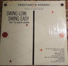 TONY The Baron CROMBIE Swing Low Swing Easy Vinyl Record LP RPS-39004