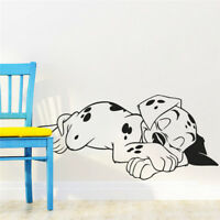 Lovely Sweet Dream Dalmatian Dogs Wall Stickers Pet Puppy Vinyl Wall Decal Mural