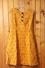 Modcloth Umbrellas Yellow Denim Dress Sz M Busy Being Giddy NWT Traka Barraka