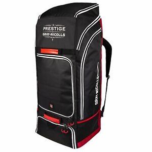 2021 Gray Nicolls Prestige Black White Duffle Cricket Bag Size: 92 x 38 x 34cms