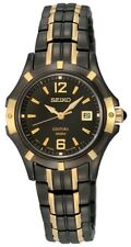 New Seiko SXDE06P Coutura Ladies Watch (7N82-0GP0) Black with Gold Highlights