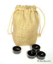 25 x té negro luces en Cordón Bolsa de Yute