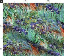 Vintage Public Domain Vincent Van Gogh Irises Fabric Printed by Spoonflower BTY