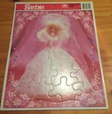 Barbie Frame Tray Puzzle #8311B Golden Dated 1992 Mattel Never Used