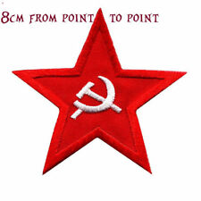 Quality Iron/Sew on Soviet union Russian star biker patch USSR hammer and sickle