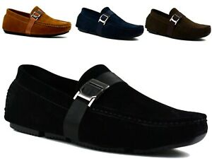 KIDS BOYS NEW FLAT SLIP ON COMFORTS SMART LOAFERS OFFICE WORK SHOES UK SIZES 2-6