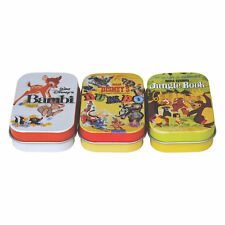 SET OF 3 DISNEY FILM POSTER PILL TINS BAMBI JUNGLE BOOK DUMBO RETRO KEEPSAKE