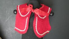 CLASSIC! Antique Red FELT DOLL Vest to COMPLETE DOLL Dress China BISQUE COMPO