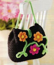Garden Party Floral Purse Handbag Crochet Pattern Instructions