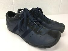 DIESEL Wish Navy Blue Leather Oxford Shoes Mens Sz 9 M Lace Up Square Toe