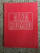 SHANKLE AUTOMOTIVE ENGINEERING ALFA ROMEO PARTS CATALOG 1976 Excellent Condition