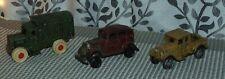 3 Vintage Antique Reproduction Cast Iron Cars Lot T