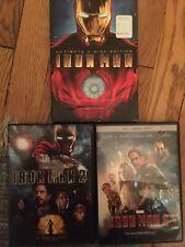 Iron Man 1, Iron Man 2, Iron Man 3 Trilogy Set 3 DVD  Marvel