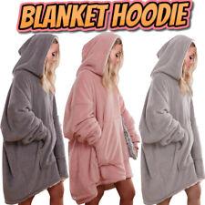 Hoodie Blanket Reversible Oversized Ultra Plush Sherpa Giant Hooded Sweatshirt