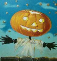 Halloween Postcard Barton & Spooner Goblin Stars Embossed 34A Vintage Original