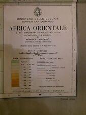 Ministero delle Colonie,A. Dardano,Africa Orientale, grande carta geografica '35