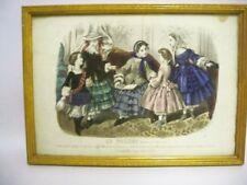 French Victorian Lithograph Le Follett by Anaïs Toudouze (1822-1899) ORIGINAL
