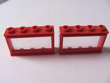 LEGO 453 @@ Window 1 x 4 x 2 (x2) Extended Lip, Glass 342 344 346 350