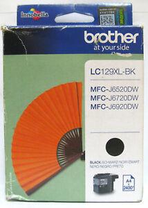 Brother LC129XL-BK Genuine Black Cartridge. BNIB / Sealed