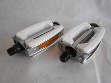 """ANTIQUE Style  BICYCLE BIKE White PEDALS FIT Electra Trek Nirve Townie 1/2"""""""