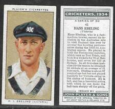 PLAYER'S 1934 CRICKETERS HANS EBELING Card No 41 of 50 CRICKET CIGARETTE CARD