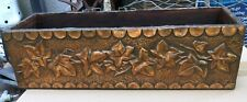 Antique embossed repousse copper covered wood box