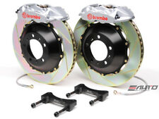 BREMBO Rear GT BBK Brake 4piston Silver 380x28 Slot Disc Camaro V6 SS ZL1 10-14