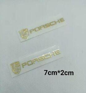 2p Stickers autocollant logo Porsche décoration.