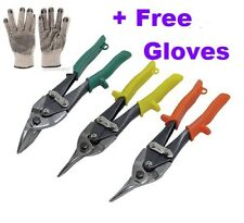 Aviation Tin Snips Set 3 - Bodyshop  - Free Gloves - Sheet Metal Cutters