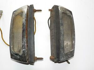 LANCIA FULVIA / ALFA ROMEO SPIDER Used PAIR CARELLO LICENSE PLATE LIGHTS