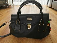 Paul's Boutique Black Bag with Red Interior and Neon Charms