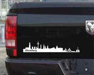 Autoaufkleber Hamburg Aufkleber Skyline 25 Farben 7 Größen Autosticker Sticker