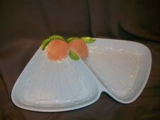 Georges Briard Canape Snack Tray Nut Mint Dish Peach