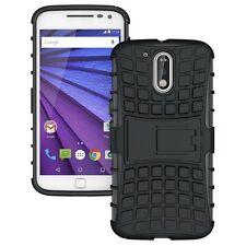 Motorola Moto G3 3rd GEN / G3 Armor defender kickstand Hybrid cover case black