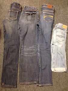 Lot 4 Pair Jeans N Capri Size 10 Gap Justice Old Navy Abercrombie & Fitch