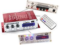 12V 2CH/2 Channel Digital Mini Hi-fi Stereo MP3 FM Audio Amplifier Home/Car/Boat
