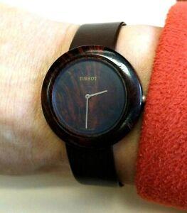 Tissot Swiss made men's original Wood Watch (for repair) w/ new Swiss band