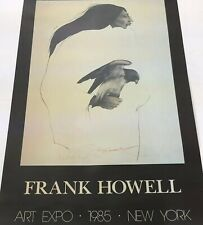"Frank Howell Listed Artist Portrait Lithograph Poster ""Distant Eyes"" Hand Signed"