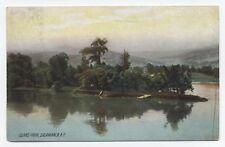 NY ~ Scene at Island Park SALAMANCA New York 1909 Cattaraugus County Postcard