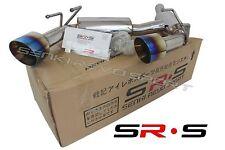 SRS Axle Back Exhaust system Muffler FOR 2010-2015 Chevrolet Camaro SS Burnt Tip