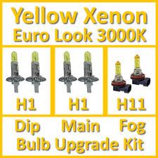 Warm White 3000K Yellow Xenon Headlight Bulb Set Main Dip Fog H1 H1 H11 Kit