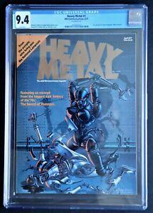 HEAVY METAL #! CGC 9.4 White Pages: Corben Moebius Druillet April 1977 Beauty