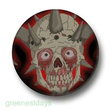 Skeleton Skull 1 Inch / 25mm Pin Button Badge Horns Emo Goth Scary Horror Evil