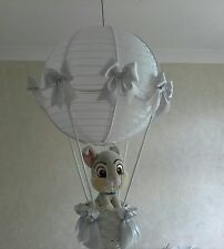 Thumper Hot Air Balloon Light Shade in silver grey   Made to Order