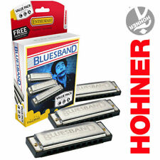 Hohner 3P1501Bx Bluesband Harmonica, Pro Pack, Keys of C, G, and A Major - New